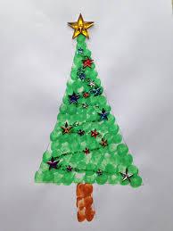 fingerabdruck tannenbaum basteln mit kindern pinterest