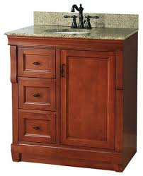 Strasser Vanity Tops Naples Vanity With Left Drawers Warm Cinnamon With Granite Vanity