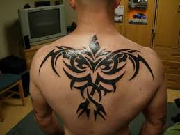 mind blowing upper back simple henna tribal tattoo design for