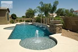 ideas modern pools design with pool fountain and stone fence plus