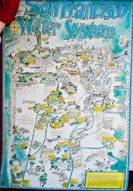 Maps San Francisco by San Francisco Water System Cartoon Map San Francisco Ca U2022 Mappery