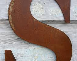 metal letters etsy