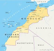 Tanger Map Morocco And Western Sahara Political Map Royalty Free Cliparts