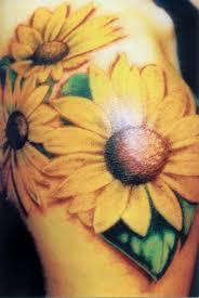 outline sunflower tattoos for shoulder all tattoos for men