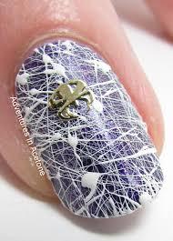 spun sugar spider web nail art adventures in acetone