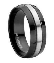 black mens wedding band stainless steel black mens wedding ring