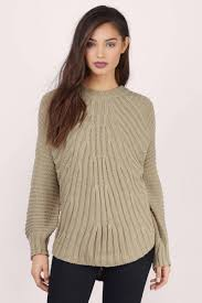 knitted sweater taupe sweater brown sweater knitted sweater 21 tobi us