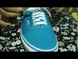 shoelace pattern for vans lace up your vans youtube