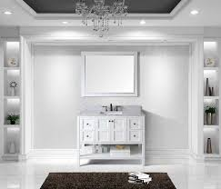 Virtu ESWMSQWH Winterfell Single Bathroom Vanity Cabinet - 48 white bathroom vanity cabinet