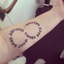karma quote tattoos the random vibez