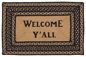 farmhouse jute rug rect stencil welcome y u0027all 20x30 farmhouse