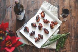 gastrique cuisine devils on horseback with gochujang gastrique