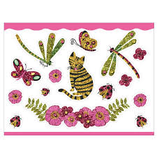 temporary jewel tattoos for girls in the garden by djeco