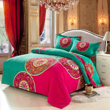 bohemian bedding set 4pcs boho style funda nordica bedclothes