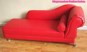 Pink Chaise Lounge Leather Red Chaise Longue For Bedroom Design