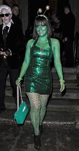 Alien Halloween Costume Lily Allen Moonlights As A Charitable Alien At The Unicef Uk