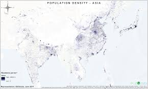 Population Density Map Of The World by Population Density Map Of Asia 3353x2009 Mapporn