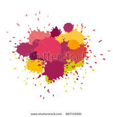 color paint splashes background vector stock vector 34444885