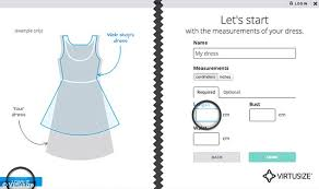 design online clothes app virtusize lets you see how clothes will fit based on items you