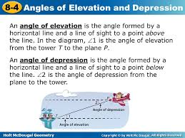 Interior Angles Calculator Holt Mcdougal Geometry 8 4 Angles Of Elevation And Depression Warm