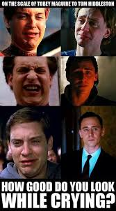 Smiling Crying Face Meme - i don t even know what tobey s second face is from but boy do i