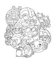 characters angry bird star wars coloring pages bulk color