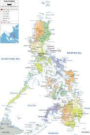 detailed political map of philippines ezilon maps