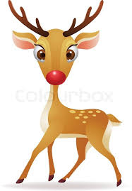red reindeer isolated white background eps 8 stock vector
