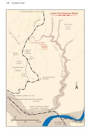 Utah National Park Map by Lower Courthouse Wash Arches National Park
