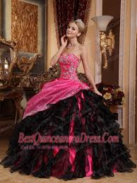and black quinceanera dresses black and hot pink gown sweetheart floor length organza
