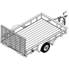utility trailer blueprints trailer blueprints northern tool