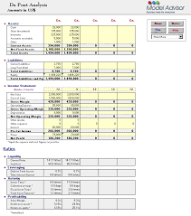 Excel Template For Financial Analysis Financial Advisor For Excel Financial Calculators Index