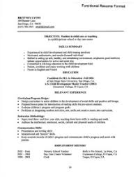 functional resume exles functional resume definition format layout 60 exles