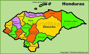 Language Map Of America by Map Of Honduras Honduras Regions Rough Guides Rough Guides