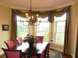 window treatments for living room and dining room bow window