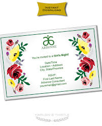 Instant Download Printable Arbonne Party Invitation
