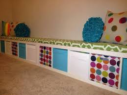 ikea bench ideas ikea expedit turned playroom storage bench playroom pinterest
