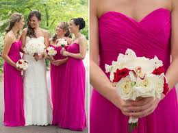wedding dresses for of honor 2017 chiffon bridesmaid dresses fuschia pink of honor