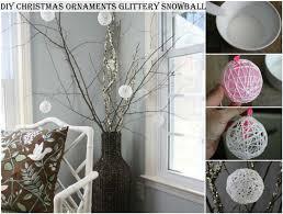 diy ornaments glittery snowball diy crafts and ideas