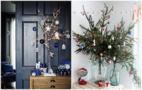 Small Decorated Christmas Trees Uk by 10 Creative Christmas Tree Ideas For Small Spaces Frances Hunt