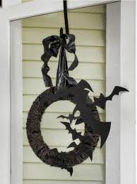 Bat Halloween Craft by Outdoor Halloween Decoration Flying Bat Wreath Hgtv