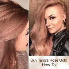 hair color formula rose gold hair color formula rich rose gold haircolor guy tang