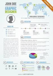 graphic designer editable resume cv template vector download