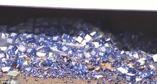 bud light truck driving jobs bud light truck overturns on arizona freeway spilling cans daily