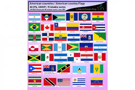 Printable Flag American Countries American Country F Design Bundles