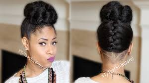 put your hair in a bun with braids fab french braided bun updo on natural hair youtube