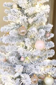 flocked christmas tree flocked christmas tree decorations 100 my styled