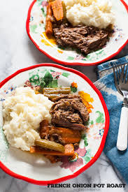 french onion pot roast slow cooker recipe the little kitchen