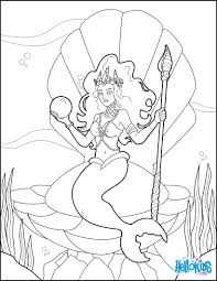 mermaid princess coloring pages hellokids