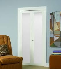 Frosted Closet Door Series 4006 1 Lite Framed Bifold Door Erias Home Designs